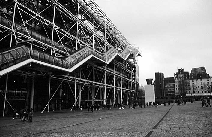 Paris photos in black and white - Beaubourg - Centre Pompidou