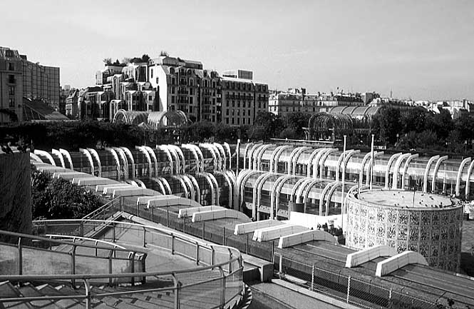 Paris photos in black and white - Les Halles