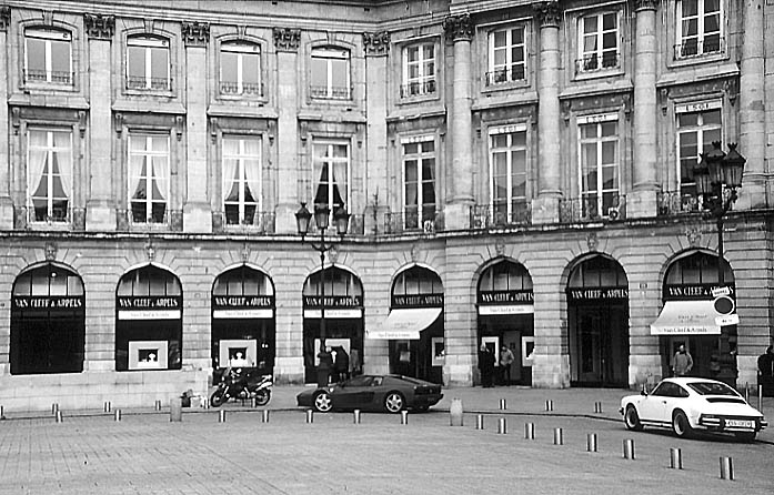 Paris photos in black and white - Place Vendôme