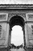 Paris black and white photos - Arc de Triomphe