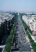 Paris photos - Champs Elysées as seen from the Arc de Triomphe