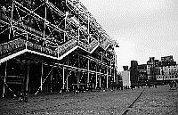 Paris black and white photos - Beaubourg - Centre Pompidou