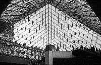 Paris black and white photos - Louvre - Pyramid inside