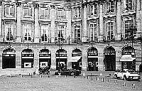 Paris black and white photos - Place Vendôme